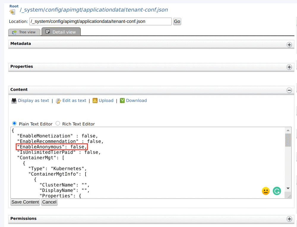 Disabling Developer Portal Anonymous Mode