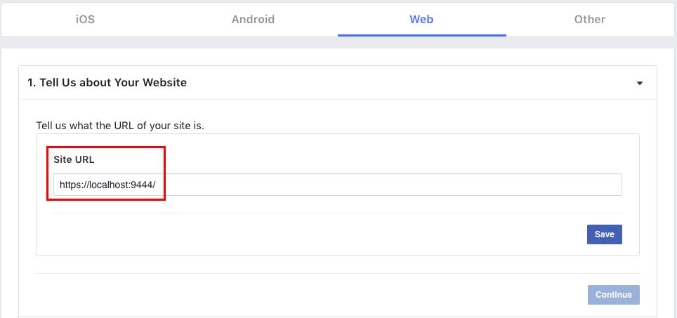 Add facebook Identity Server URL