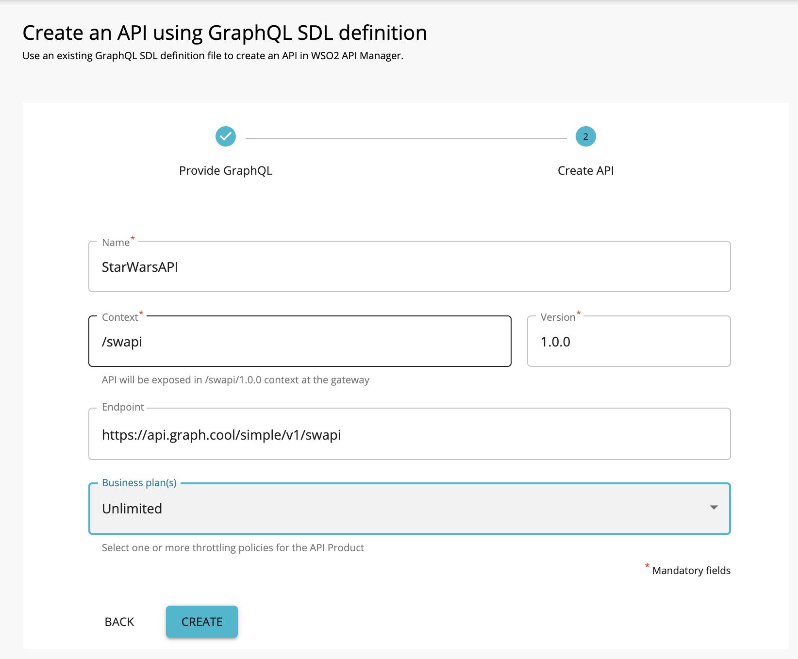 Add GraphQL API details