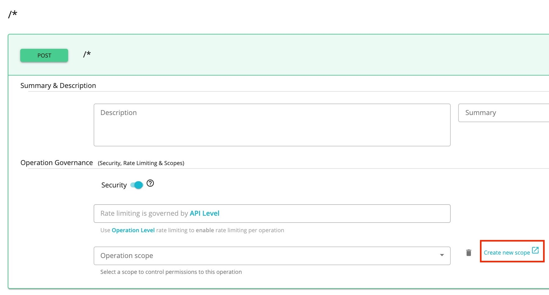 Add scope for Pass-Through SOAP API