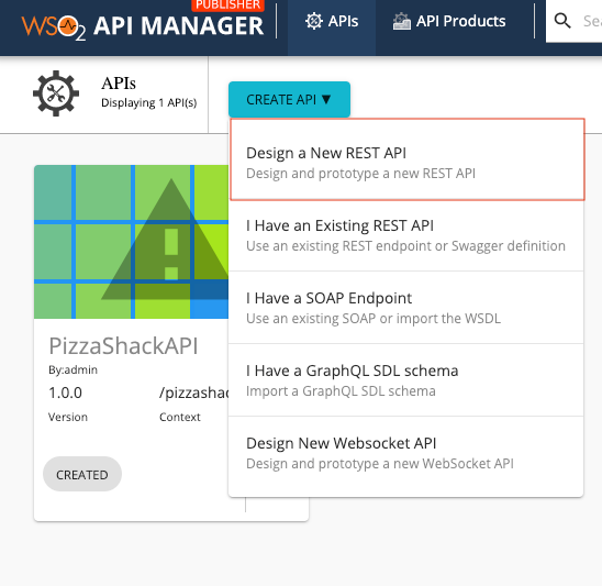 Create API options