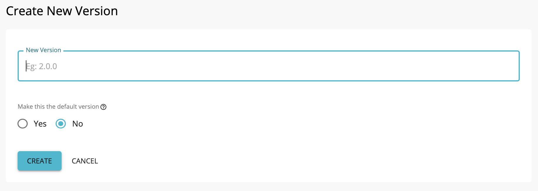 Create New API Version