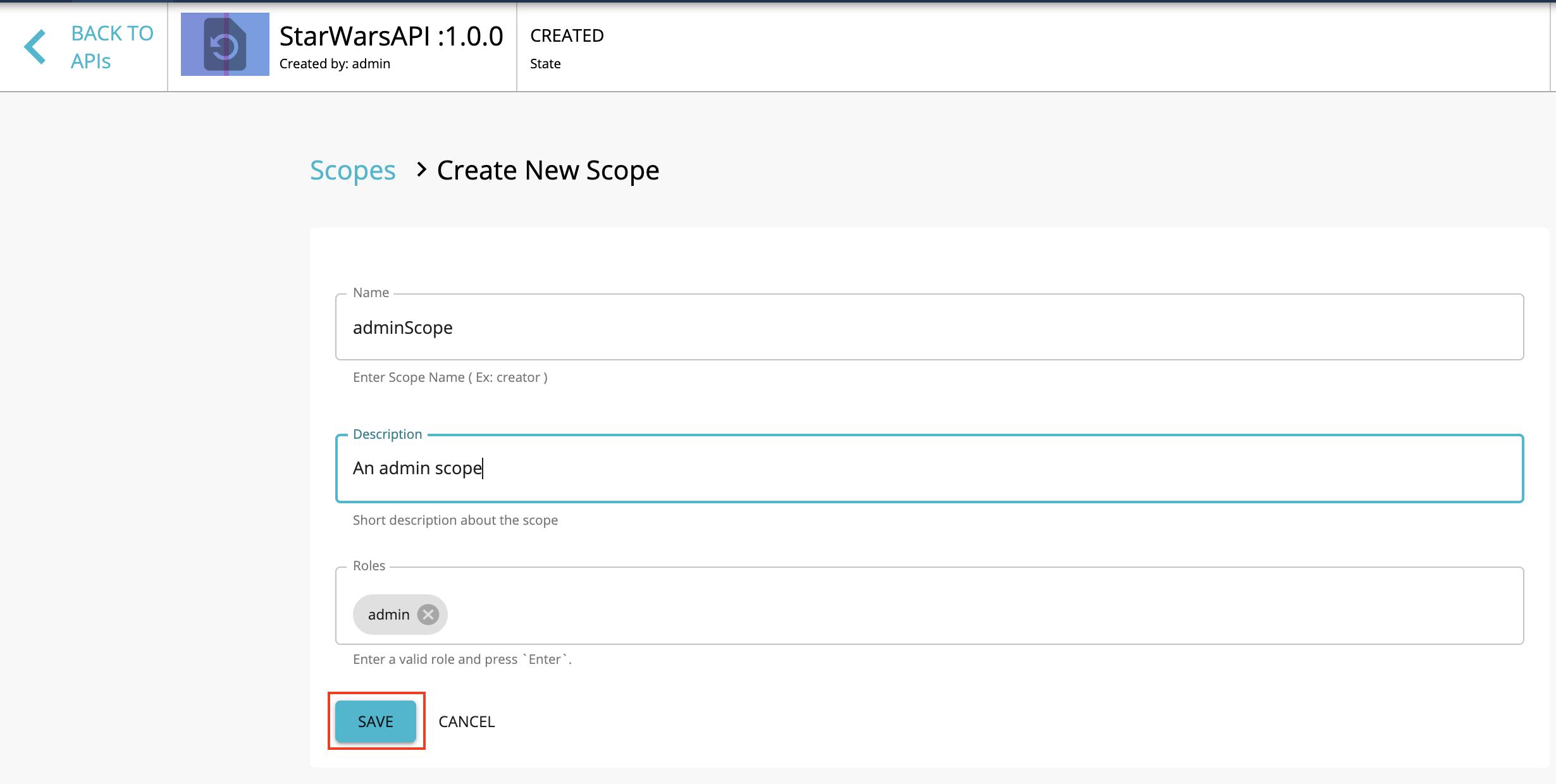 Create a scope