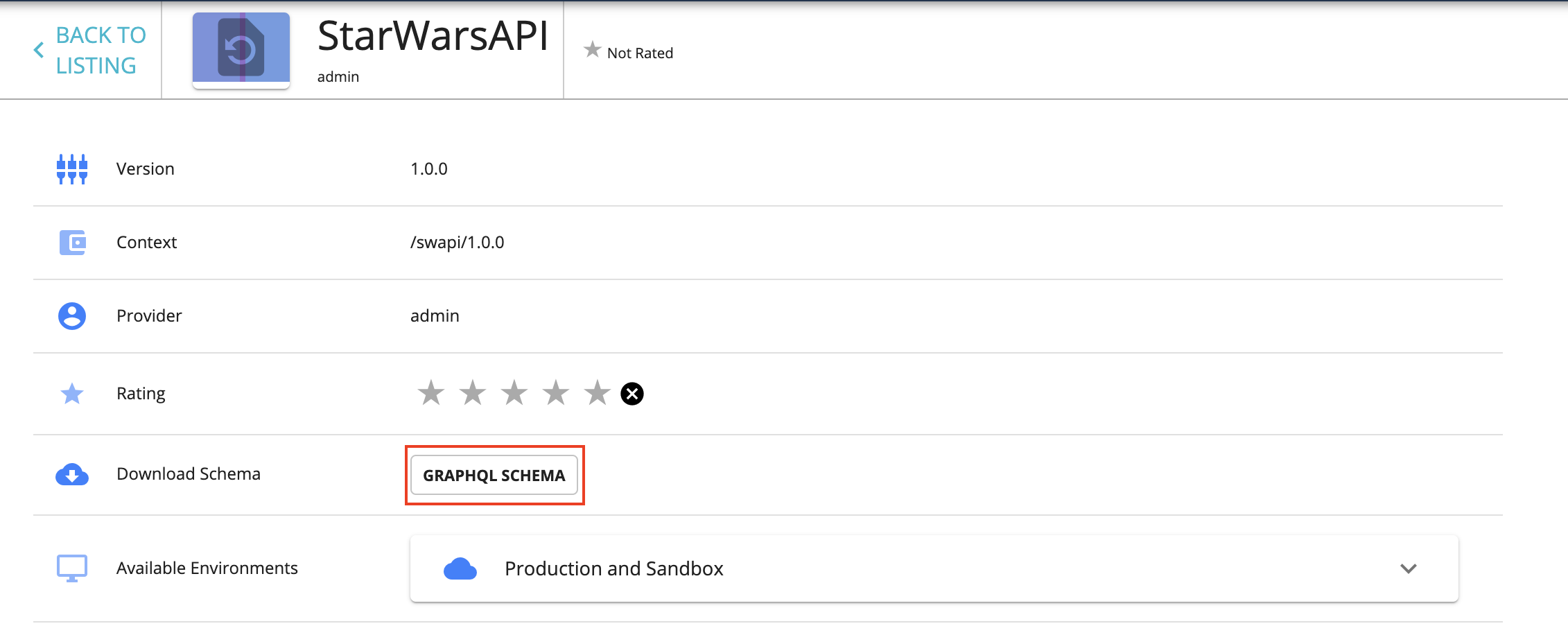 Download GraphQL API schema