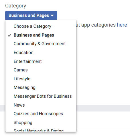 Facebook App Category