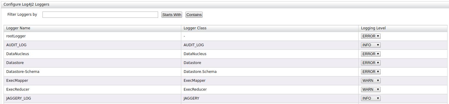List Logger Carbon UI