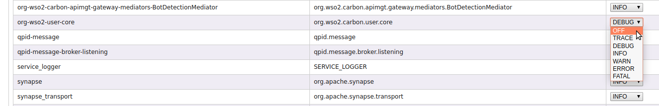 Update Logger Carbon UI