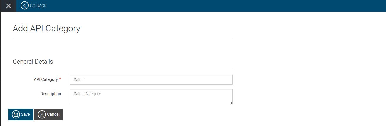 Add API categories