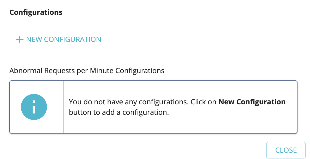 Add new abnormal request count configuration