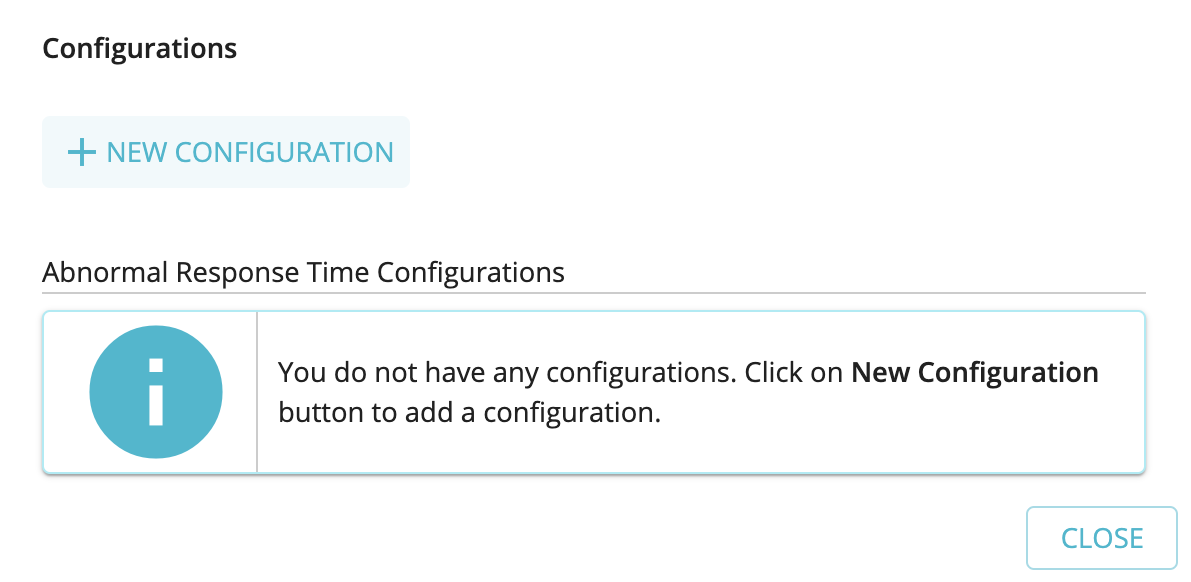 Add new abnormal response time configuration