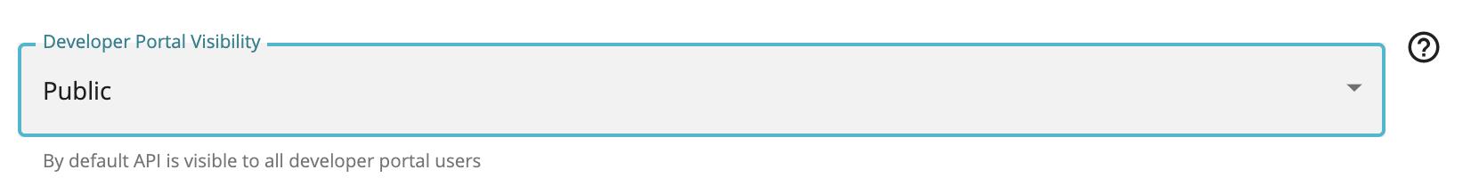 Developer Portal Visibility