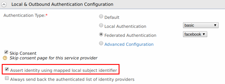 Select mapped local subject identifier