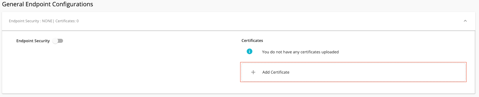 Click on Add Certificate
