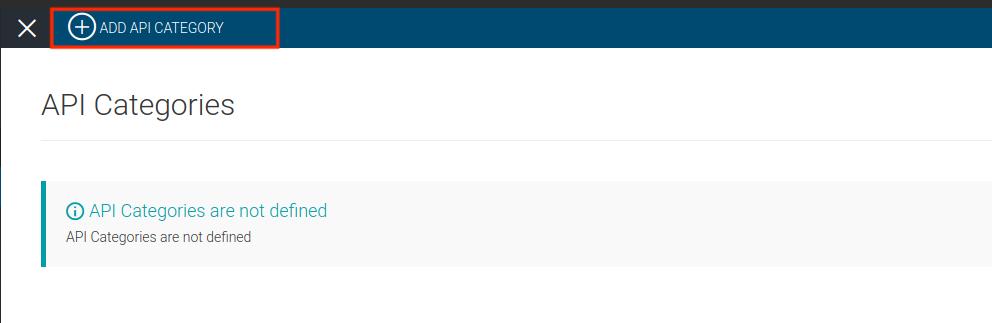 Add API category page