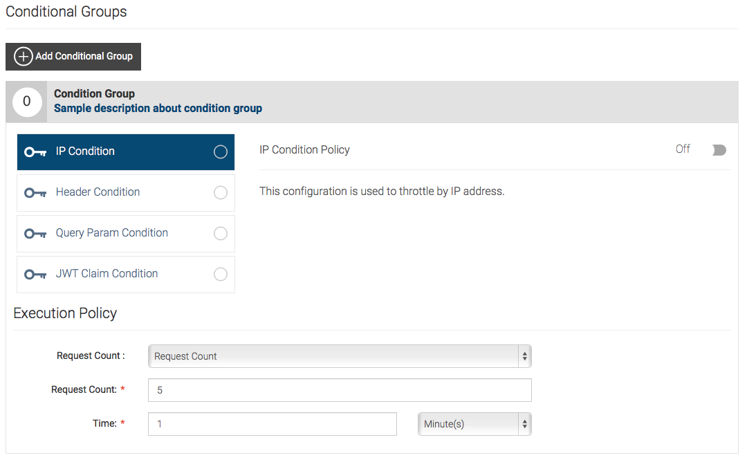 conditional groups