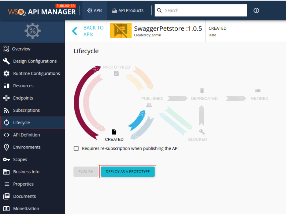 Lifecycle page