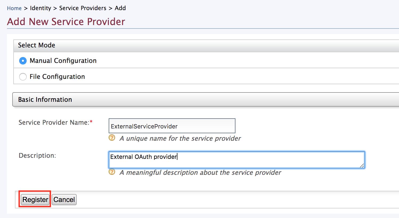Add Service Provider