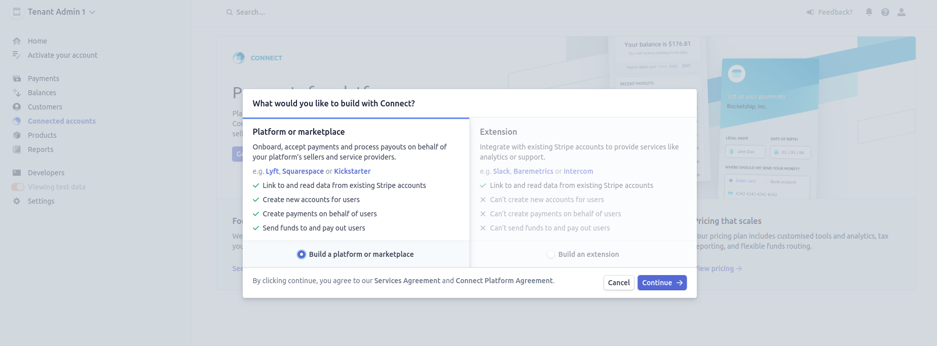 Create a platform account