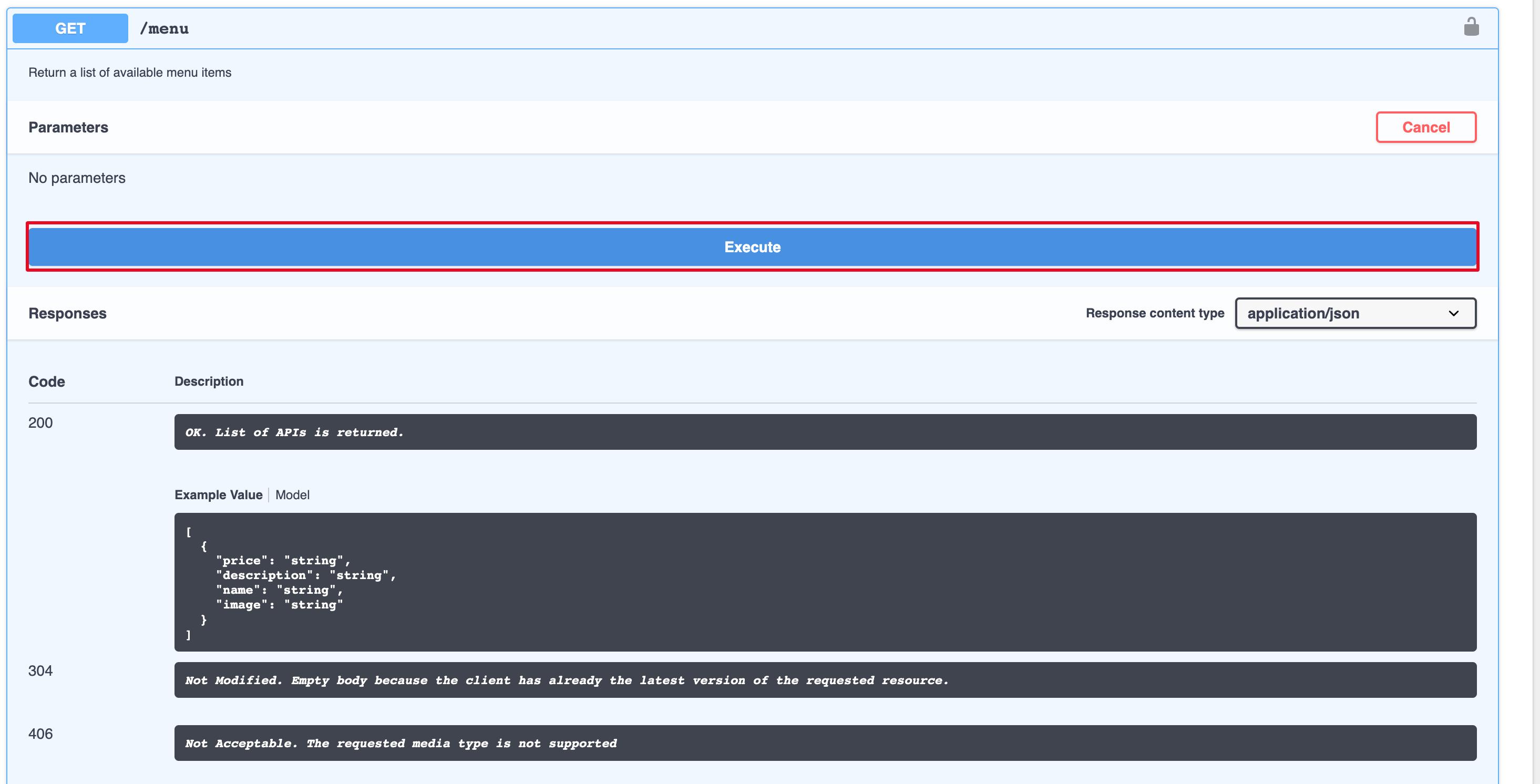 Invoke the API