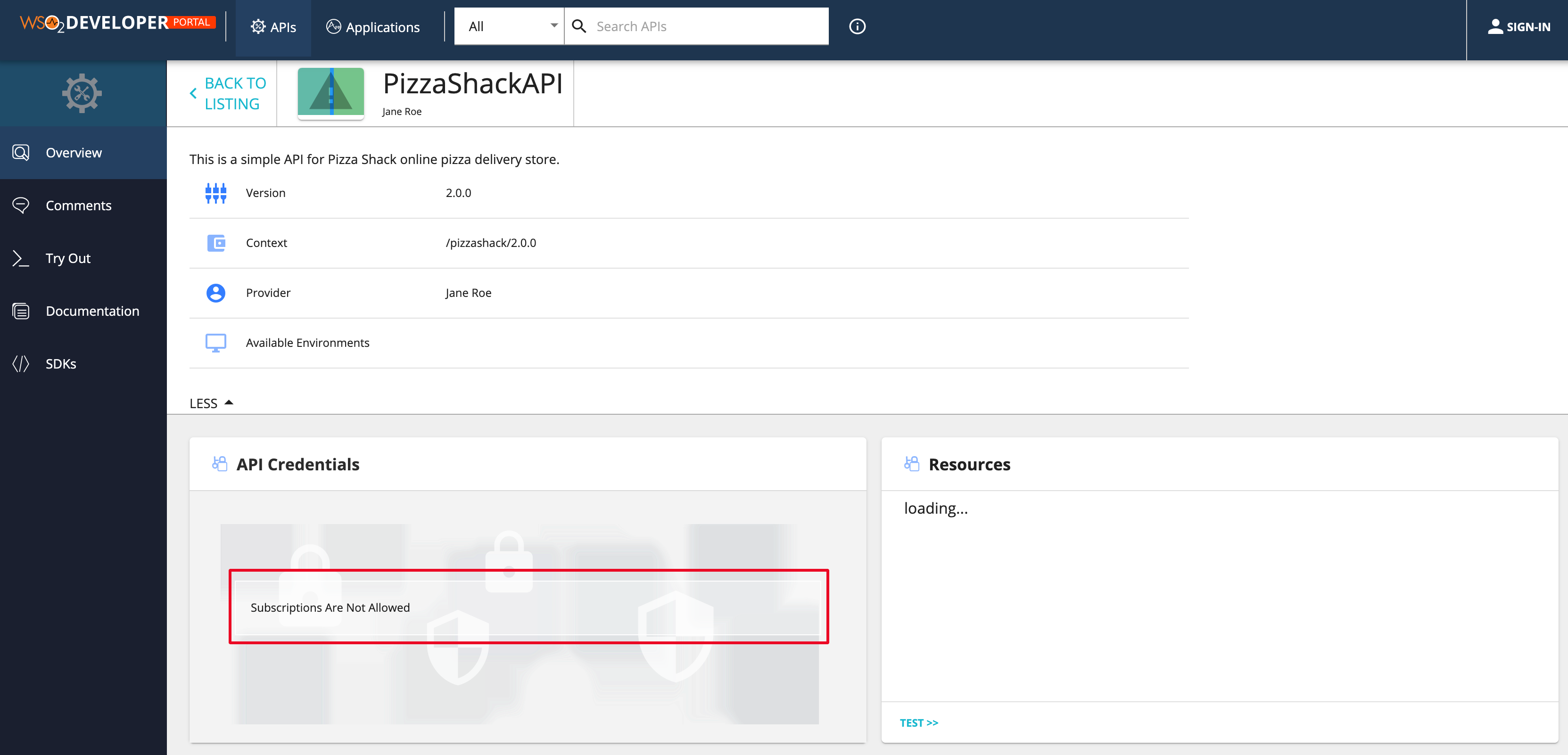 View overview of PizzaShackAPI 2.0.0