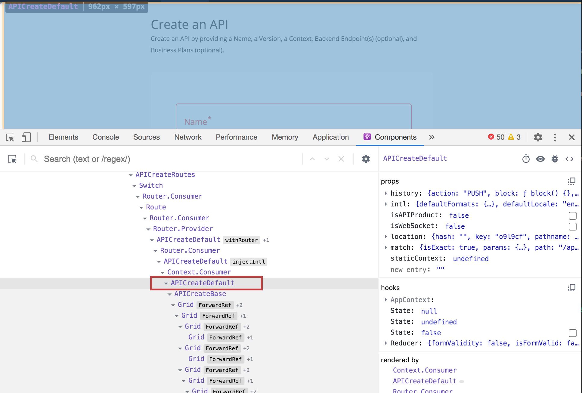 api create page