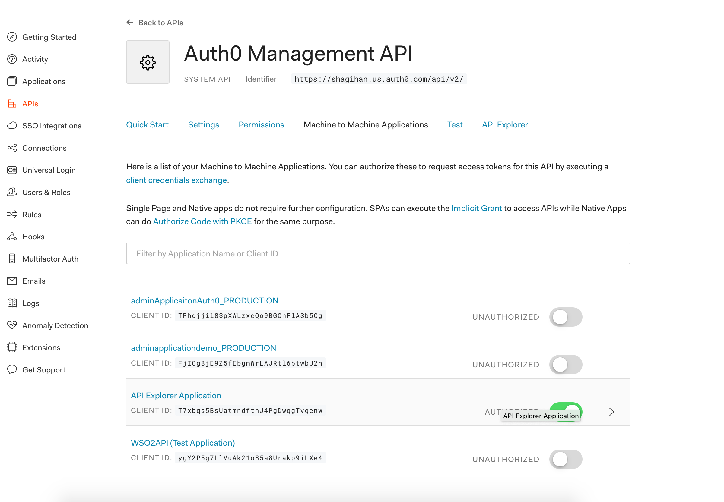 auth0 permission to use app