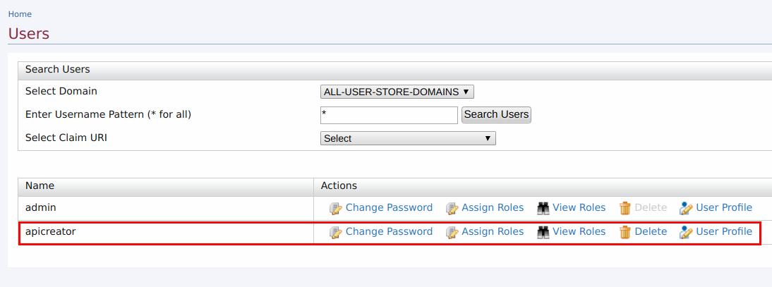 Change user details
