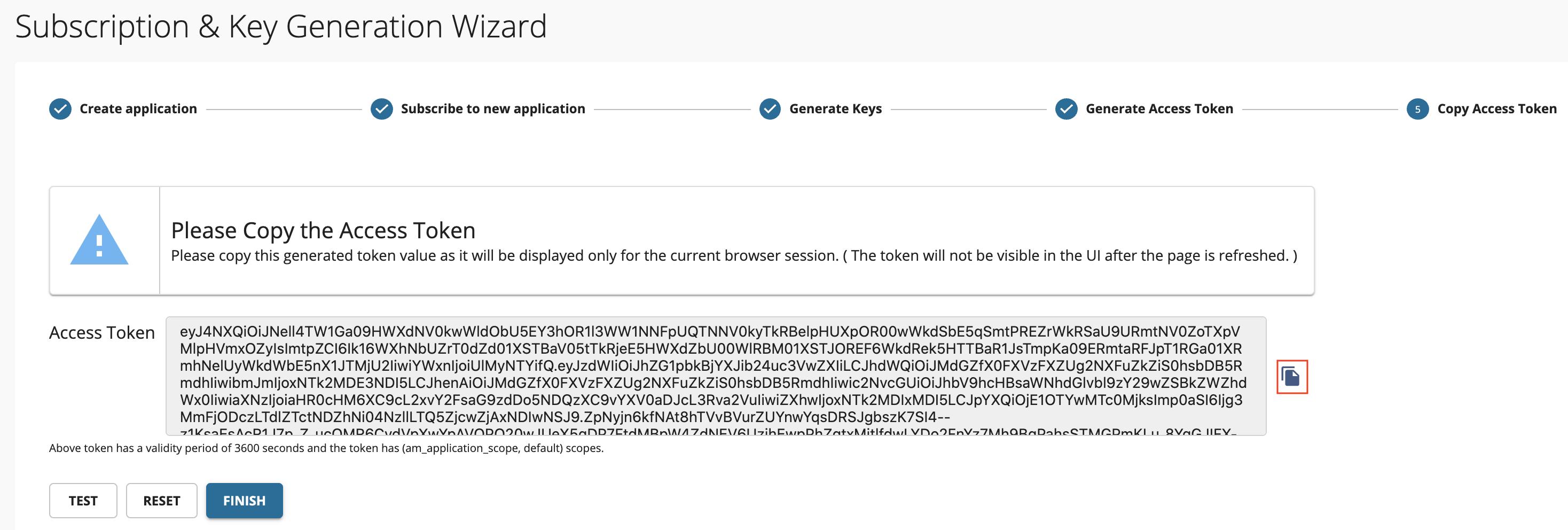 Wizard - Copy Access Token
