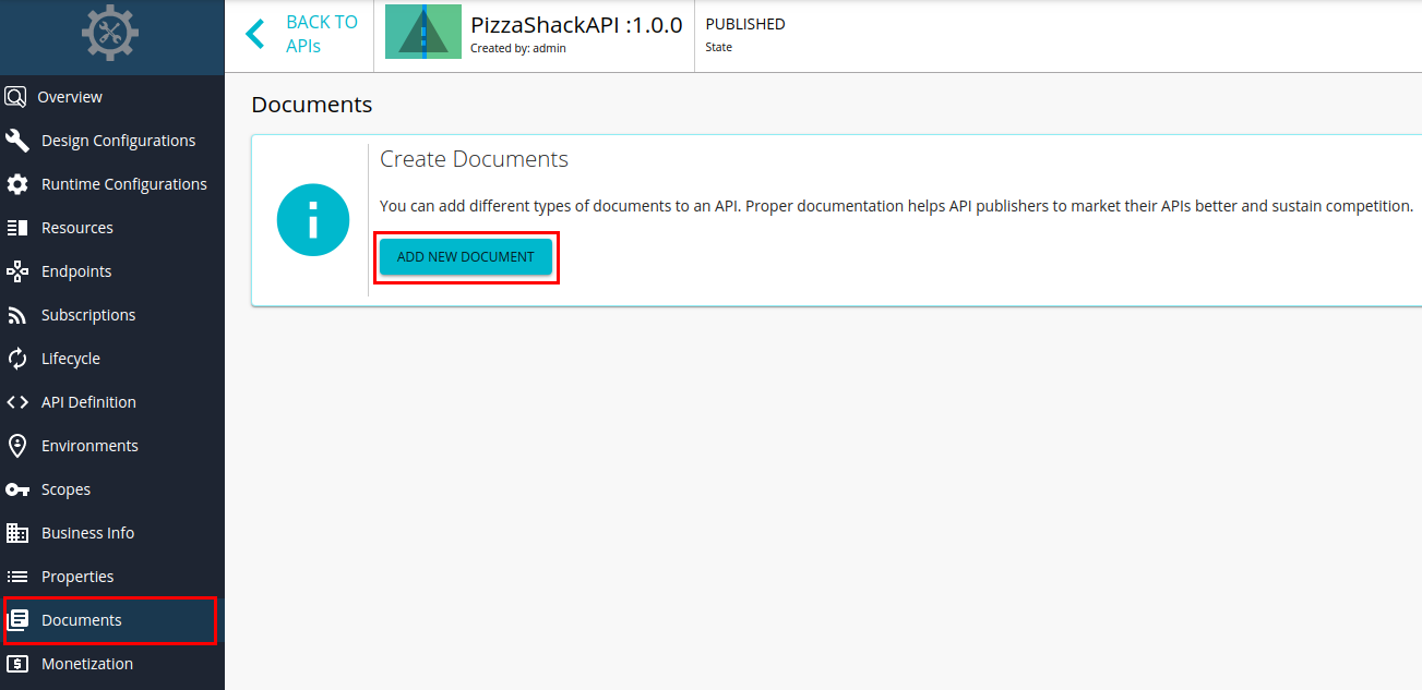 Add new documents option