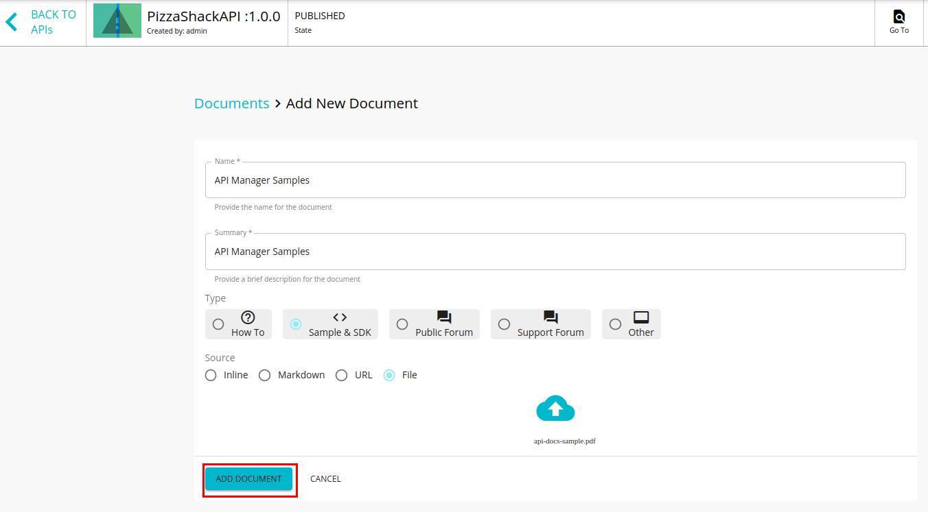 Add file based API documentation