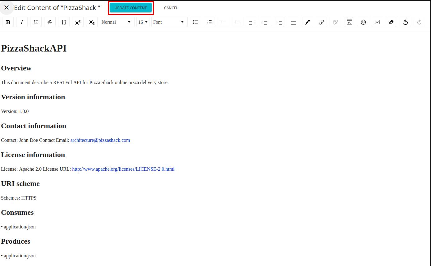 Edit inline document