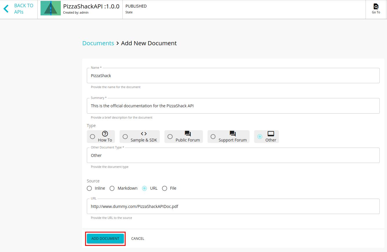 Add other type URL based API documentation