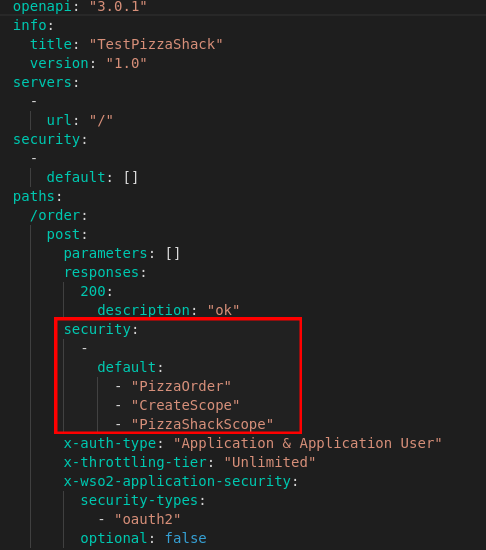 Resource Scopes API Definition