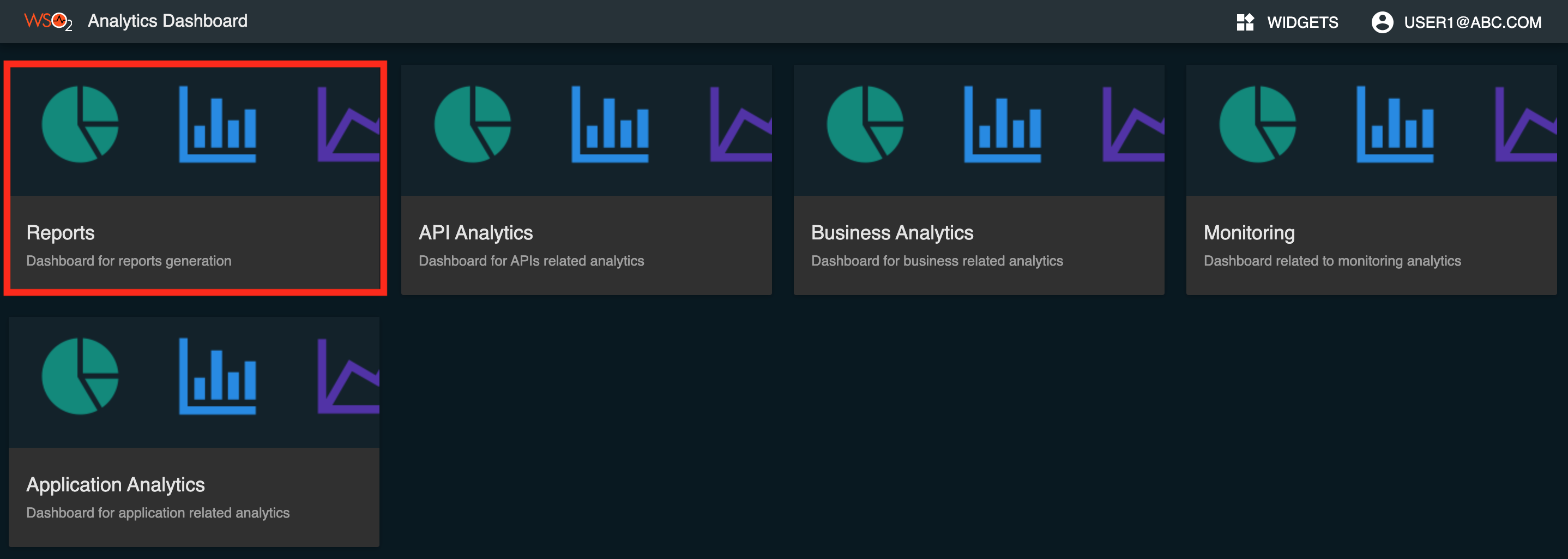 APIM Analytics Reports Dashboard