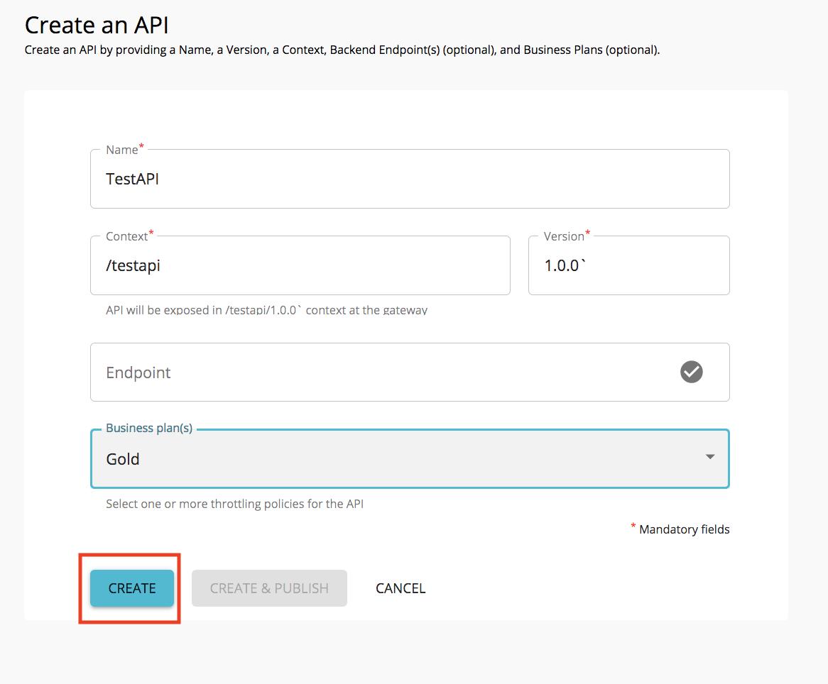 Create a test API