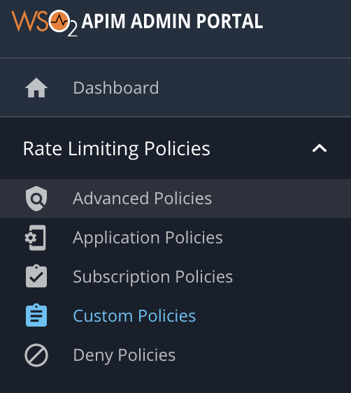 Add Custom policy page