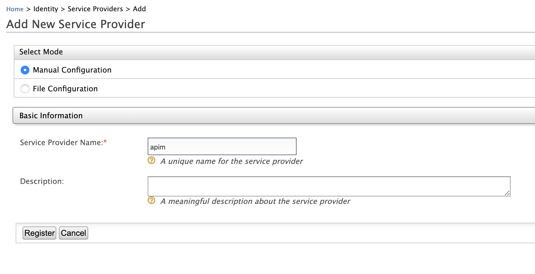 Service Provider name