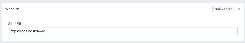 Facebook Site URL