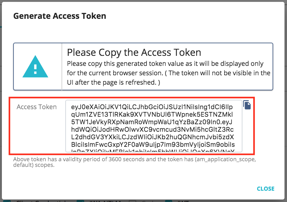 JWT access token