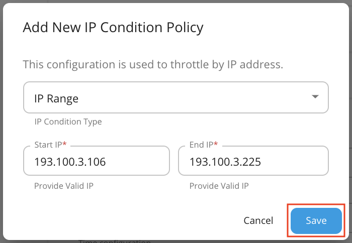 Advanced Rate Limit policy
