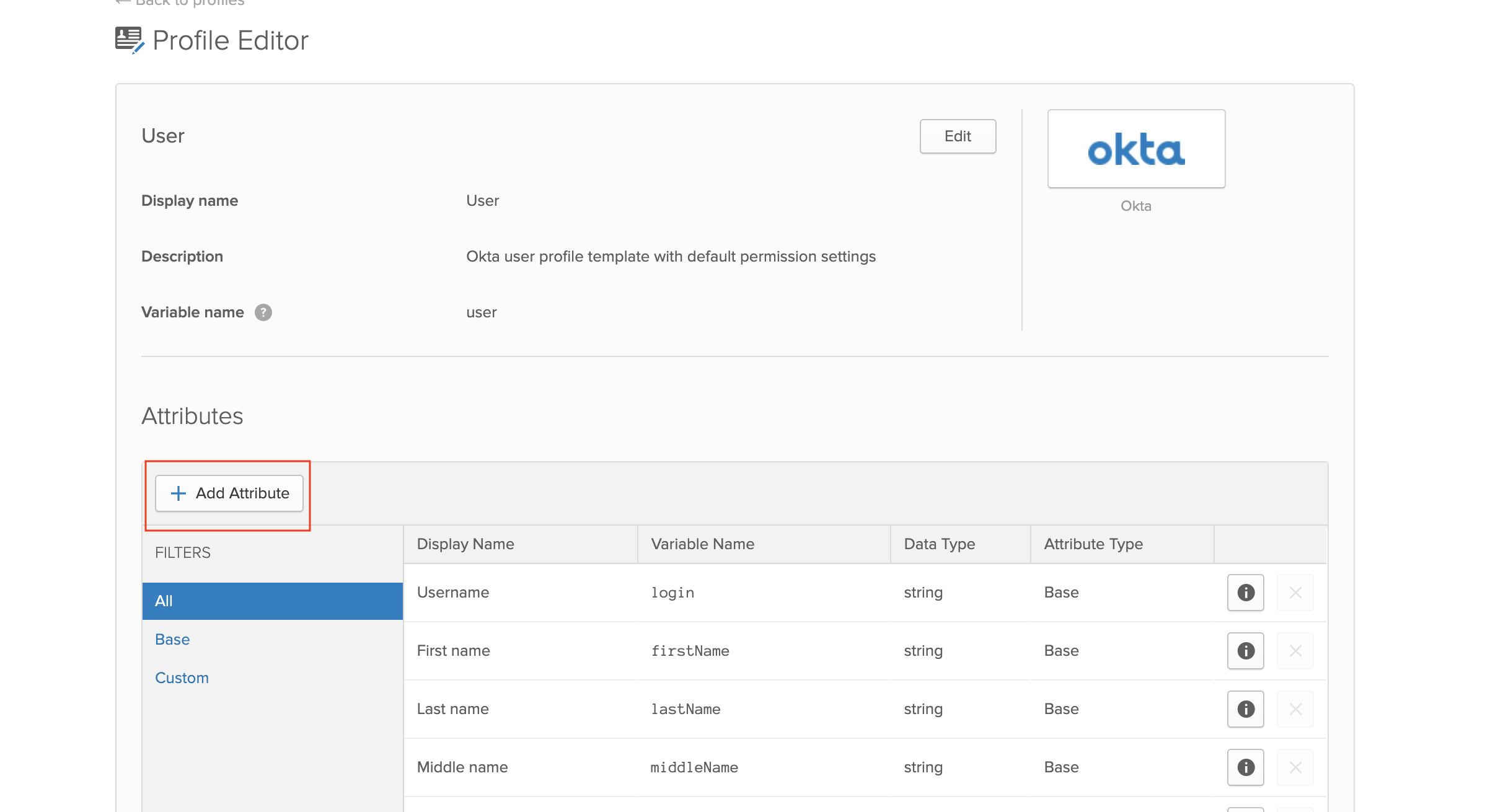 See newly added attribute in Okta
