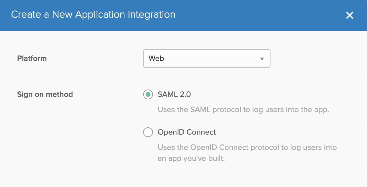 Create a new application integration