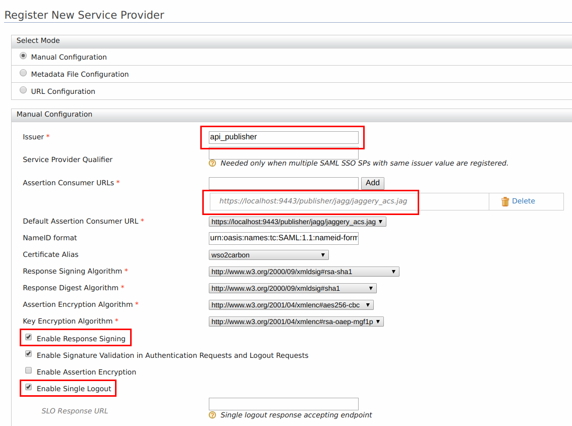 Register new service provider