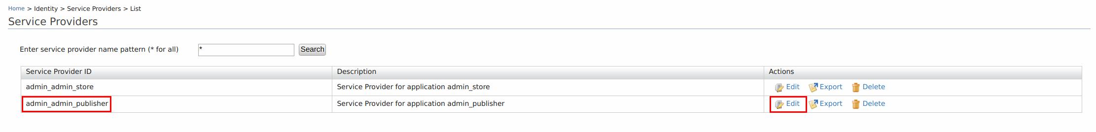 Service Providers List
