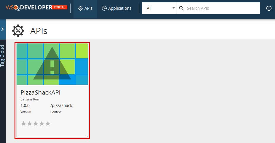 API in Developer Portal