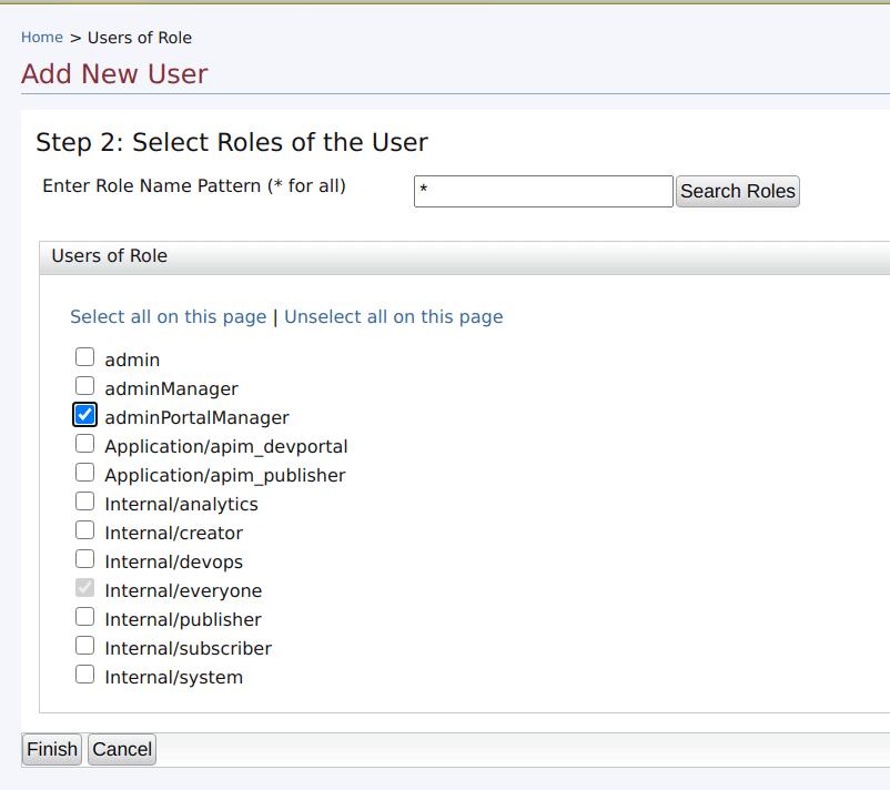 Assign admin portal user role