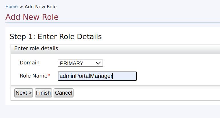 Add admin portal role