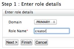 Enter role details