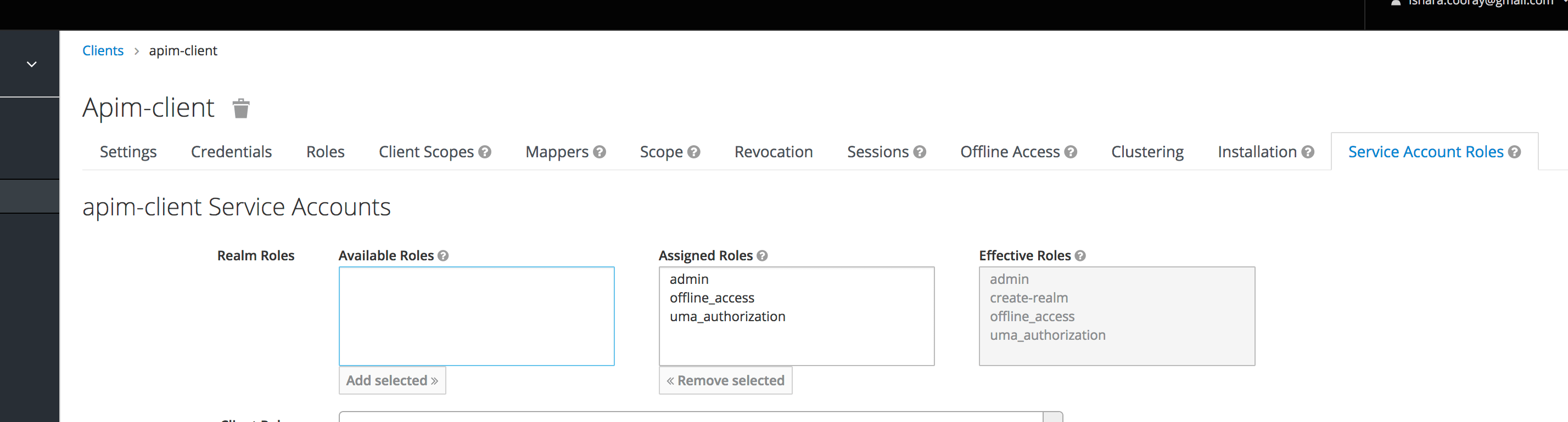 Assign service account roles
