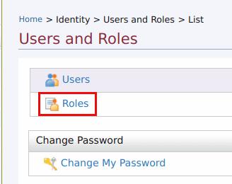 List roles